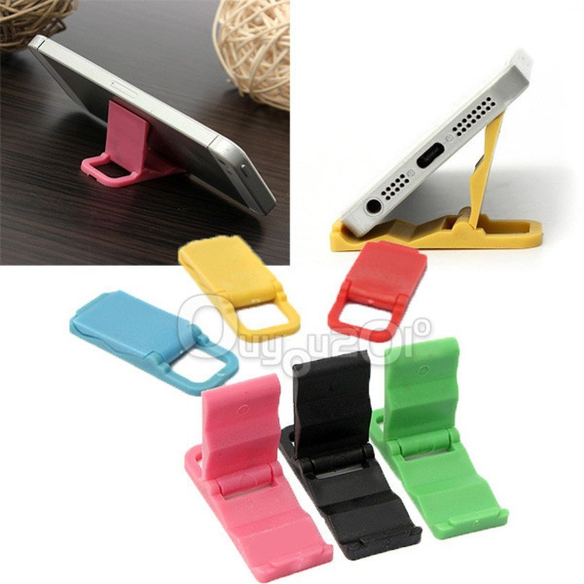 Universal Fold-able Mini Cell Phone Stand Holder for iPhone Galaxy HTC Huawei (Red) (Intl)