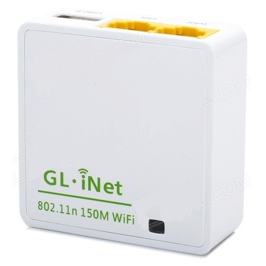 Universal GL.iNet OpenWRT Mini Smart Router 16MB ROM - 6416A - White