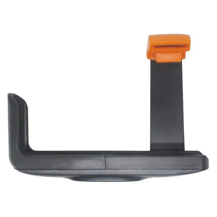 Universal Holder L Clamp Orange Flip for Smartphone - Hitam