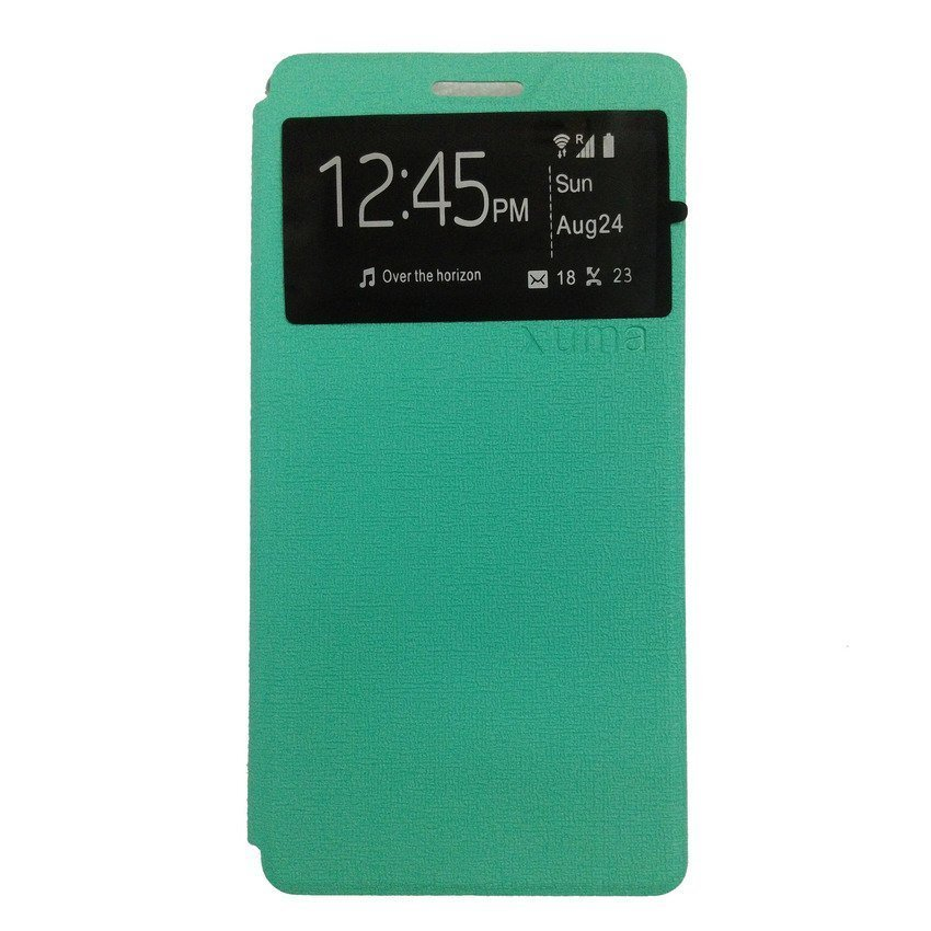 Universal Leather Case Lenovo A6000 - Biru Dongker