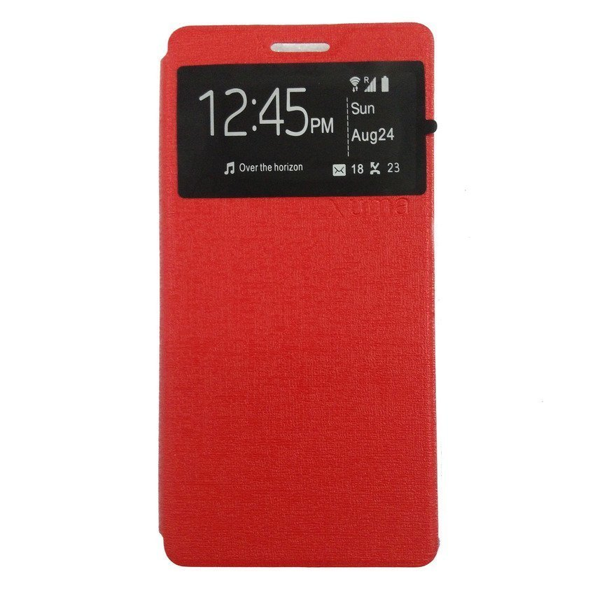 Universal Leather Case Lenovo A6000 - Merah