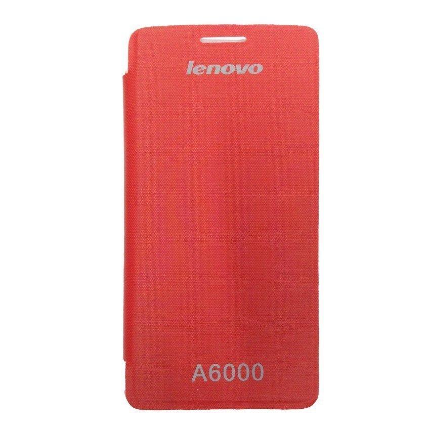 Universal Leather Case Lenovo A6000 - Merah