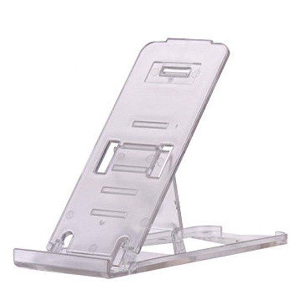 Universal Mobile Phone Portable Desktop Holder Mount Stand Cradle Bracket for Cell Phone Ipad Transparent (Intl)