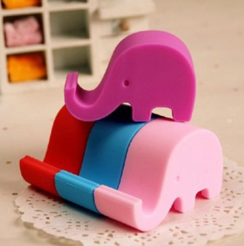 Universal Portable Elephant Phone Holder Mobile Cell Phone Stent Stand For Iphone Green(Intl) (Intl)