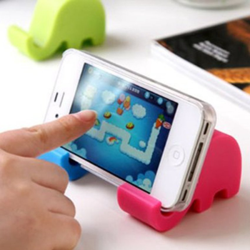 Universal Portable Elephant Phone Holder Mobile Cell Phone Stent Stand For Iphone Rose (Intl)