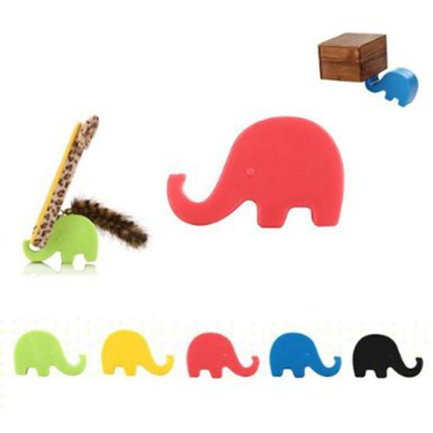 Universal Portable Elephant Phone Holder Mobile Cell Phone Stent Stand For Iphone Yellow (Intl)