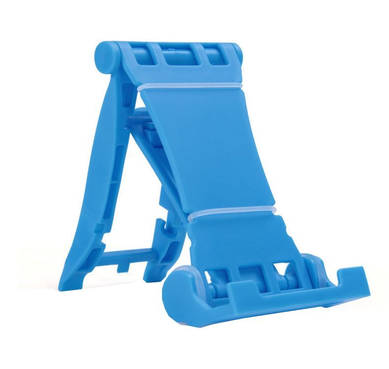Universal Portable Fold-Up Stand Smartphone, Tablet PC, Bracket, Holder MS - Biru