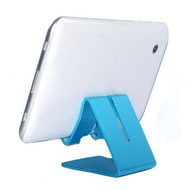 Universal Solid Aluminum Alloy Metal Mobile Phone Desktop Stand Mount Holder Stander Cradle for Phone/iPad Black (Intl)