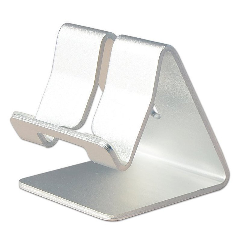 Universal Solid Aluminum Alloy Metal Mobile Phone Desktop Stand Mount Holder Stander Cradle for Phone/iPad (White) (Intl)