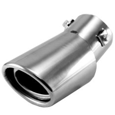 Universal Stainless Steel Drop Down Auto Car Exhaust Tail Pipe Tailpipe Muffler Silencer Pipe (Silver) (Intl)