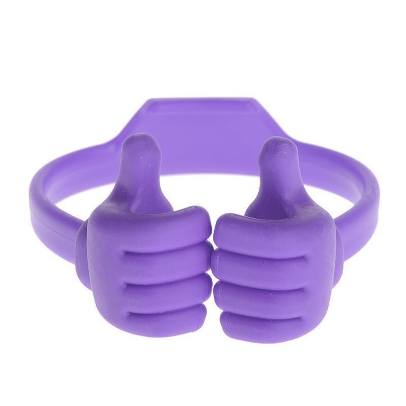 Universal Thumb Desktop Phone Holder Stand Bracket Mount(Purple)