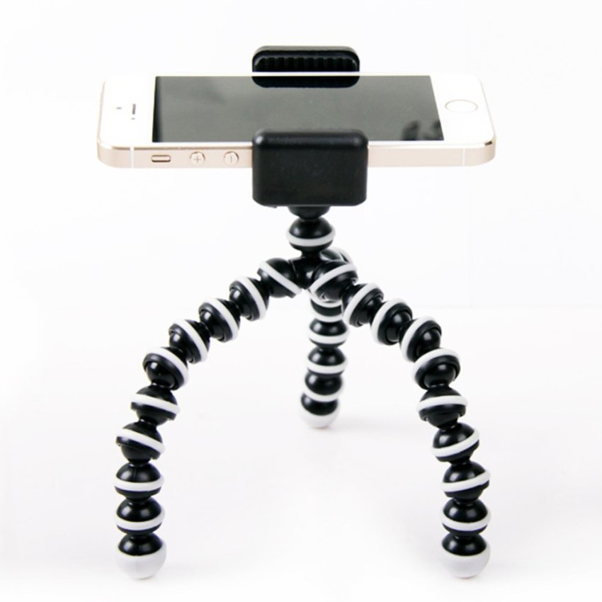 Universal Tripod Stand Mount Bracket Holder for Smartphones (Black/White)