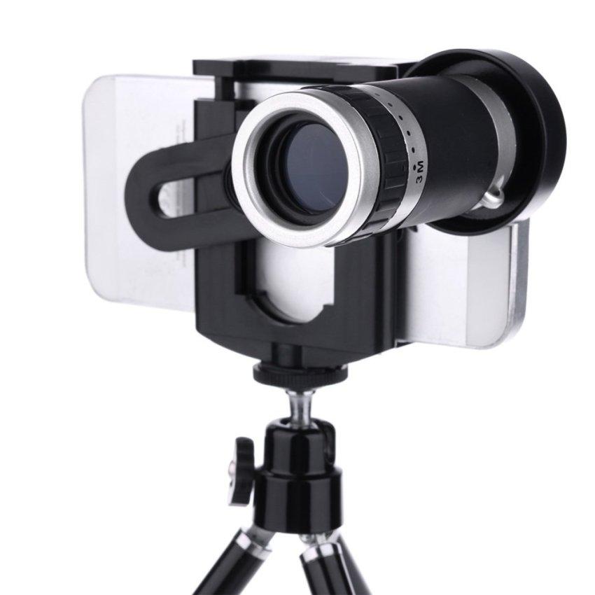Universal Universal Clip 8x Telephoto Lens Mobile Phone (Intl)