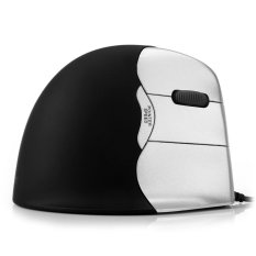 USB Wired Vertical Optical Mouse with 6 Keys LED Breathing Light 2000DPI For Laptop Desktop (Silver) (Intl)