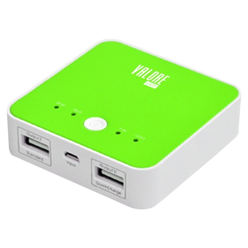 Valore F02 Portable Power Bank 4100 mAh - Dual Output 1A - Hijau