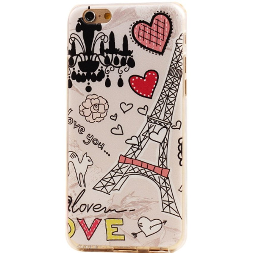 Vanki Art Designed Pattern PC Silicone Case for iPhone 6/6S/6S (Multicolor) (Intl)