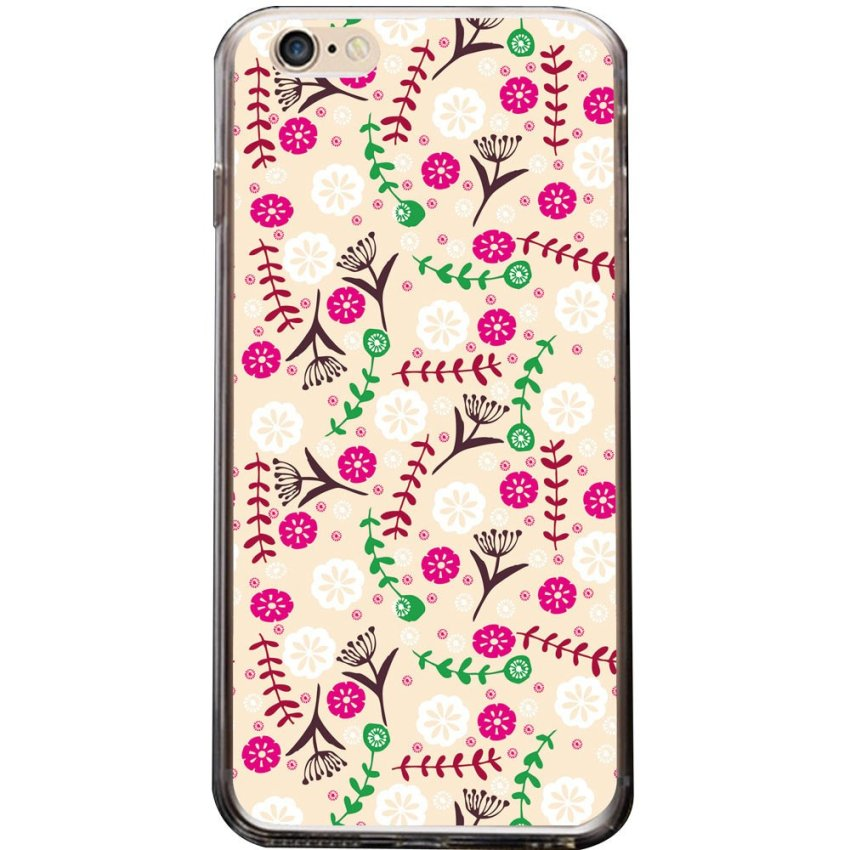 Vanki PC Art Designed Pattern Silicone Case Back Skin Protector for iPhone 6 Plus 5.5 inches (Multicolor) (Intl)