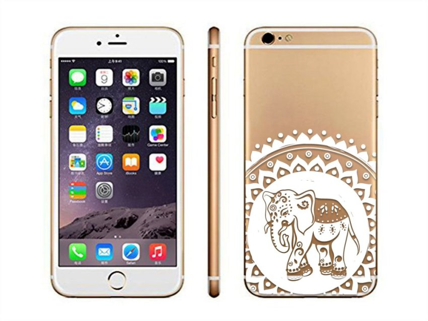 Vanki TPU Art Designed Pattern Silicone Back Case Skin Protector for iPhone6 4.7 (Gold) (Intl)