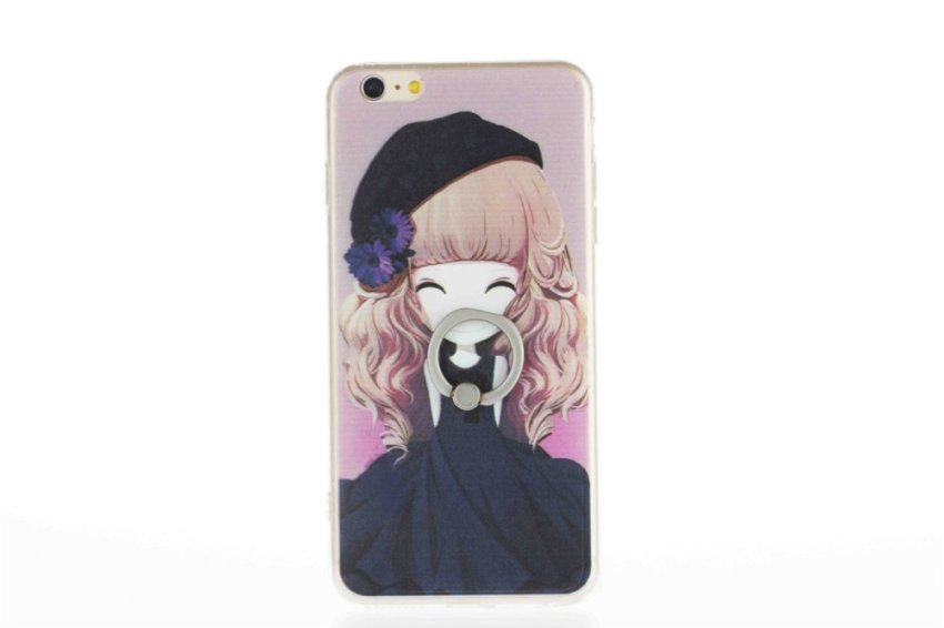 Vanki TPU Art Designed Pattern Silicone Case for iPhone 5 (Black) (Intl)