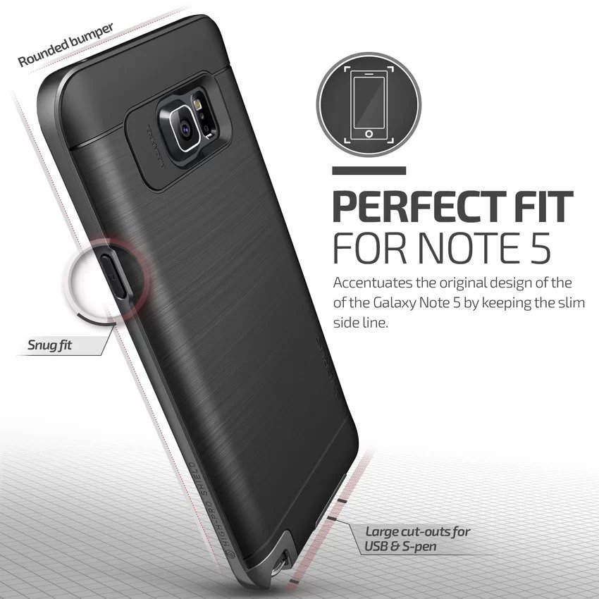 Verus High Pro Shield for Samsung Galaxy Note 5 - Steel Silver