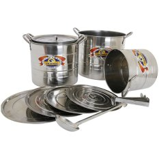Vicenza V525 Multi Purpose Stock Pot Steamer & Penutup - 12 Buah