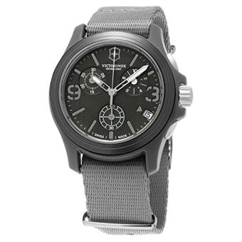 Victorinox Swiss Army Men's 241532 Original Chronograph Grey Nylon Strap Watch - Intl