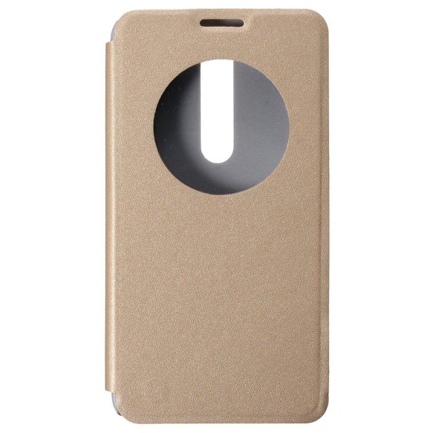 View Flip PU Cuoio Case Custodia PC Cover forr Asus Zenfone 2 ZE551ML 5.5'' (Gold) (Intl)