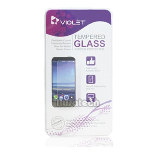 Violet Sony Xperia M2 AQUA Tempered Glass Screen Protector - Clear