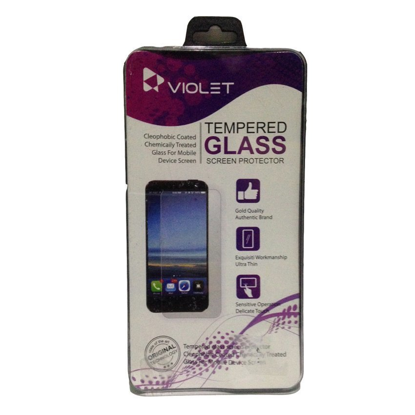 Violet Xiaomi Redmi 2 Tempered Glass Screen Protector - Clear