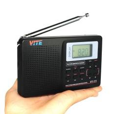 VITE VT-111 Portable DSP FM Stereo / MW / SW / LW / TV Radio Multiband Radio Receiver Digital Alarm Clock - Intl