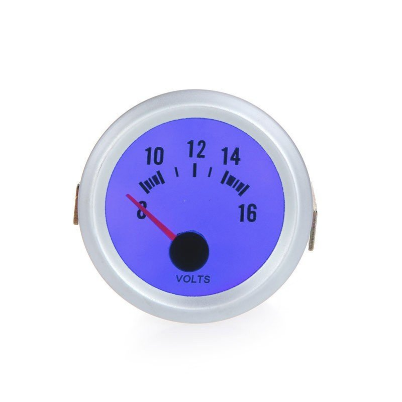 Voltage Meter Gauge Voltmeter for Auto Car 2  52mm 8~16V Blue LED Light (Intl)