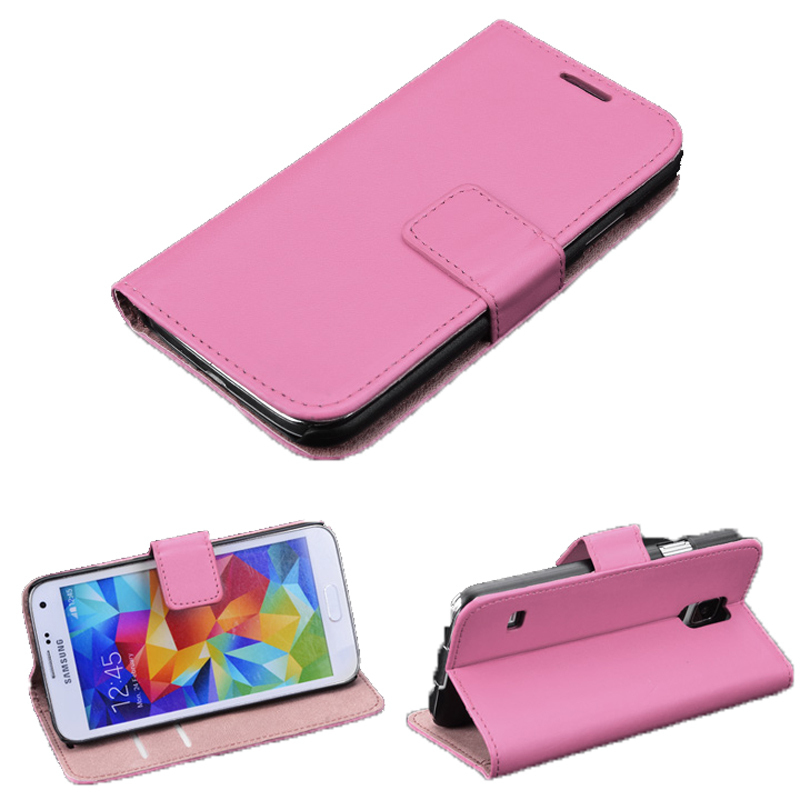 Wallet Card Holder Leather Flip Cover for Samsung Galaxy Note 3 (Pink) (Intl)