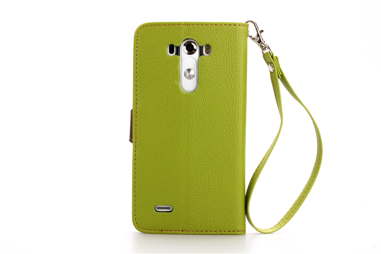 Wallet Flip Leather and Soft TPU Cover with Card Slot Holder for LG G3 (Green) (Intl)