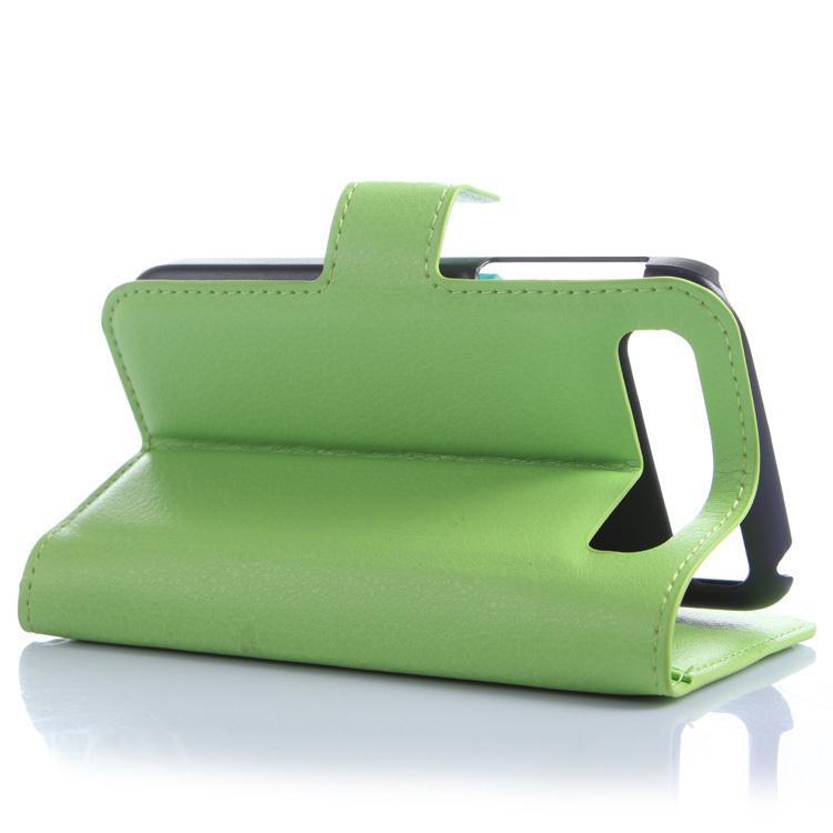Wallet Flip Leather Case With Card Bag Holder For Blackberry Q20 Green (Intl)