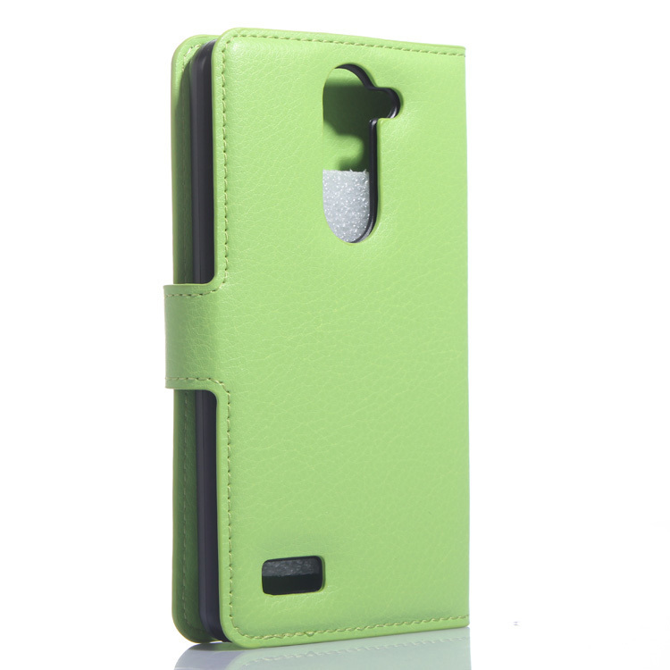Wallet Flip Leather Case With Card Bag Holder For LG L Bello Green (Intl)
