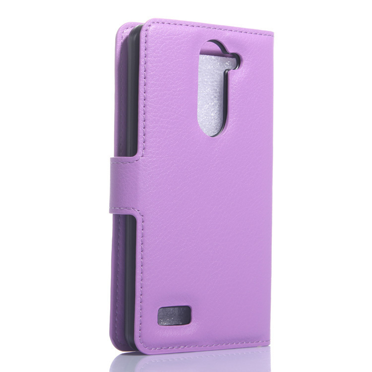 Wallet Flip Leather Case With Card Bag Holder For LG L Bello Purple (Intl)