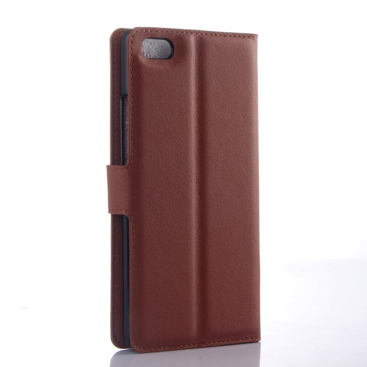 Wallet Flip Leather Case With Card Bag Holder For ZTE Nubia Z9 Max Brown (Intl)