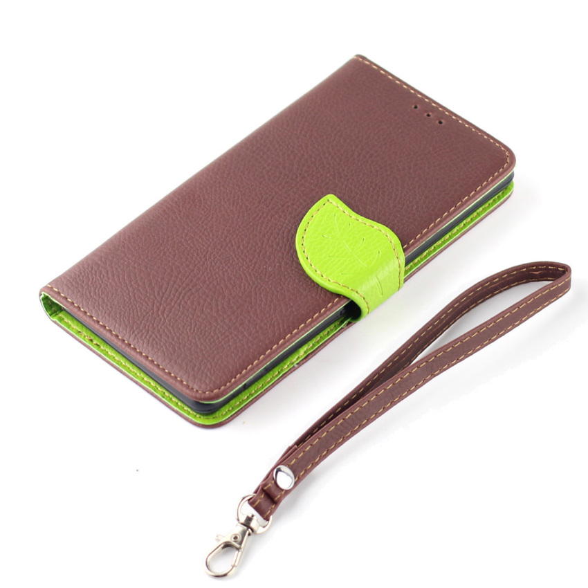 Wallet Flip Leather Case With Card Slot Holder for Samsung Galaxy S4 (Brown) (Intl)
