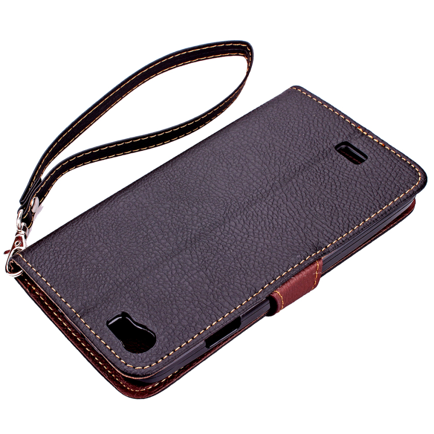 Wallet Flip Leather Case With Card Slot Holder For Wiko Lenny (Black) (Intl)