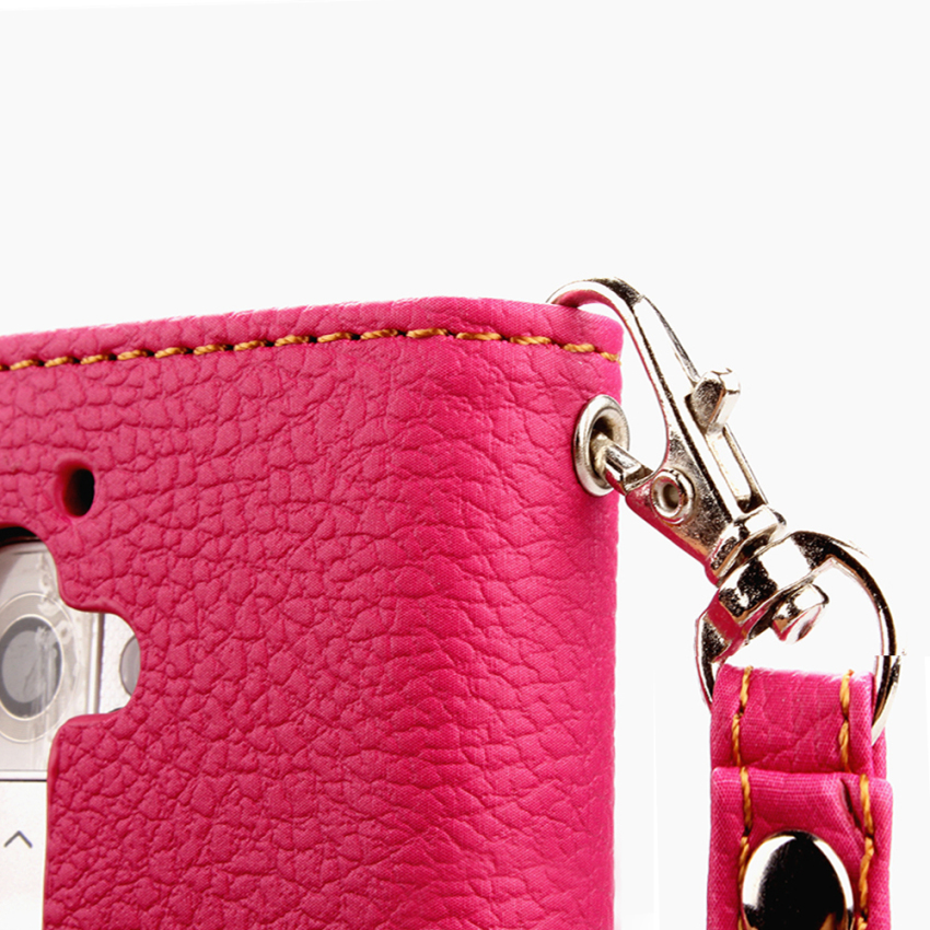 Wallet Flip Leather Cover for LG G2 Mini (Pink) (Intl)