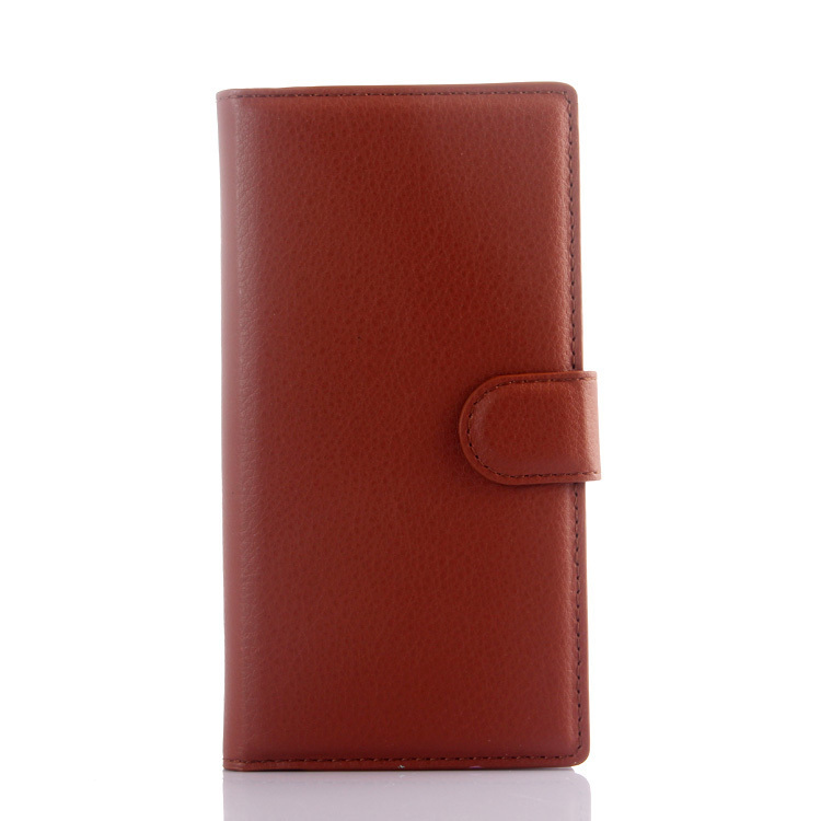 Wallet Flip Leather Cover for Wiko Highway Star 4G (Brown) (Intl)