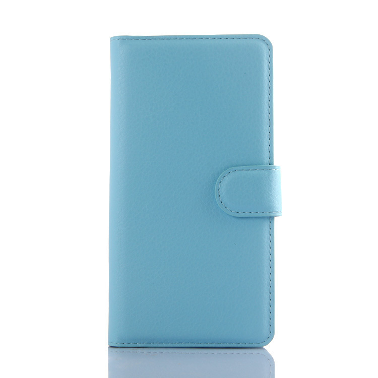 Wallet Flip Leather Cover for Wiko Rainbow Lite (Light Blue) (Intl)