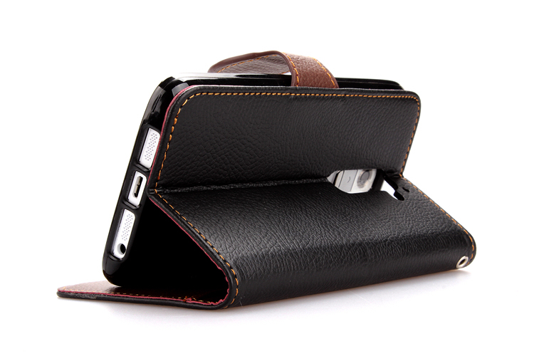 Wallet Flip Leather Cover with Card Slot Holder for LG G2 (Black) (Intl)