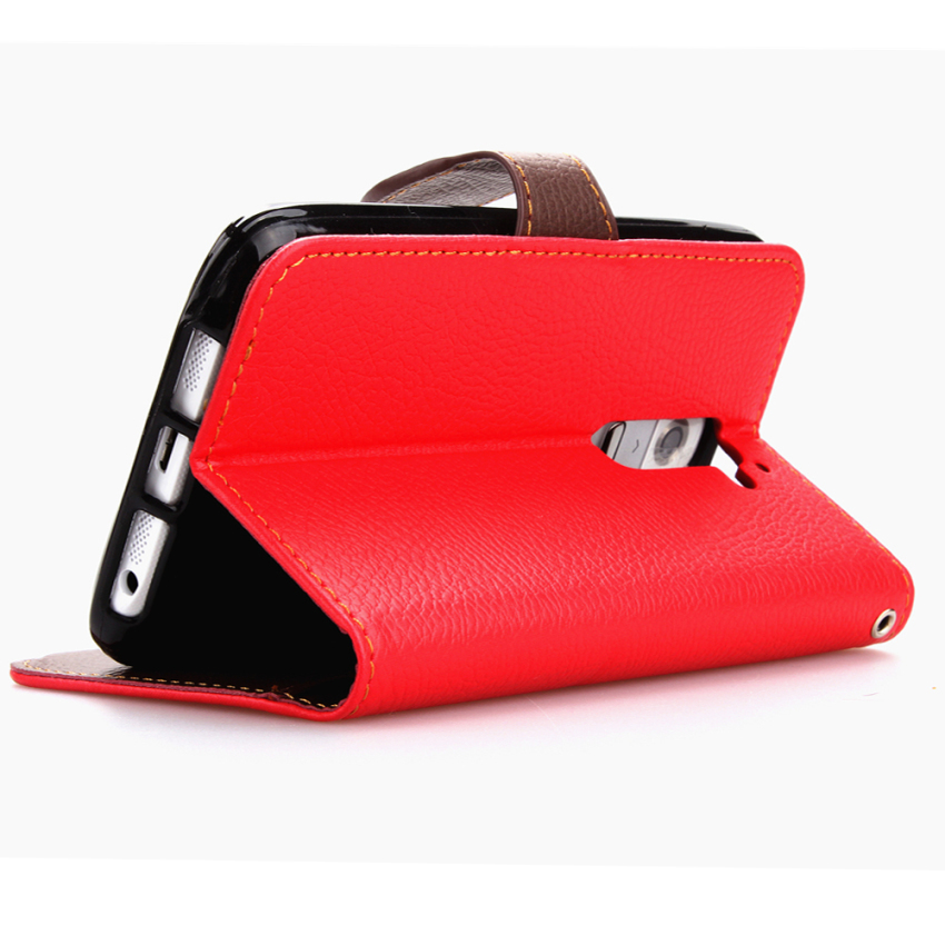 Wallet Flip Leather Cover with Card Slot Holder for LG G2 Mini (Red) (Intl)