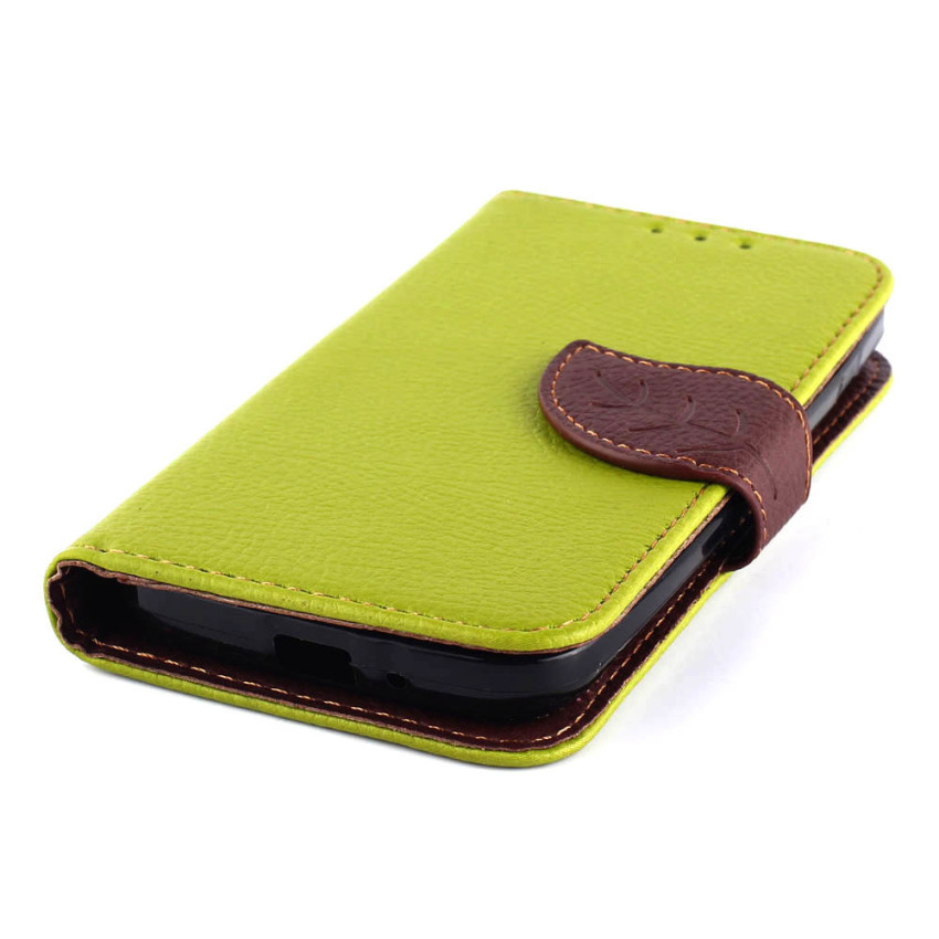 Wallet Flip Leather Cover with Card Slot Holder for LG L90 (Green) (Intl)