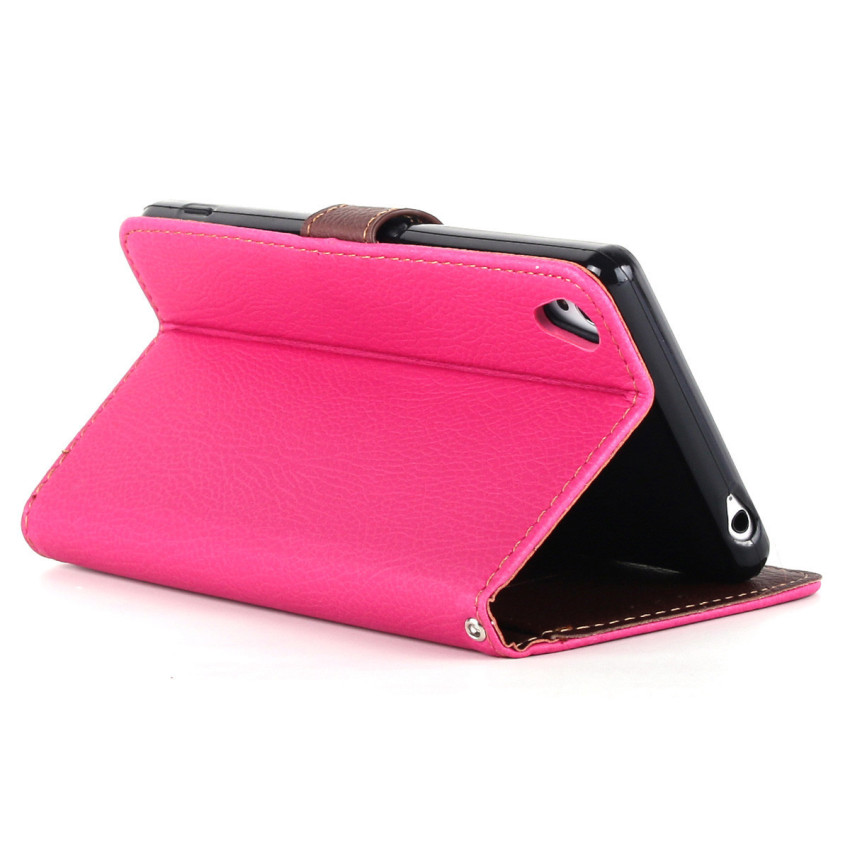 Wallet Flip Leather Cover with Card Slot Holder for Sony Xperia Z3 (Pink) (Intl)