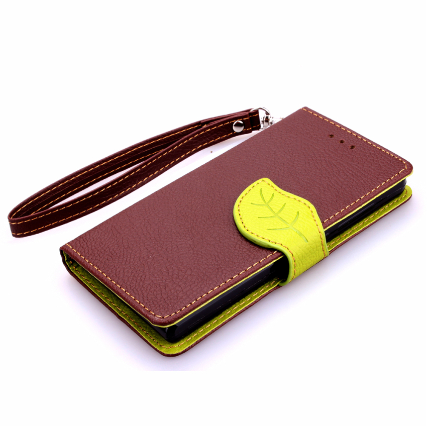 Wallet Flip Leather with Card Slot Holder Cover for Huawei Ascend G6 (Brown) (Intl)