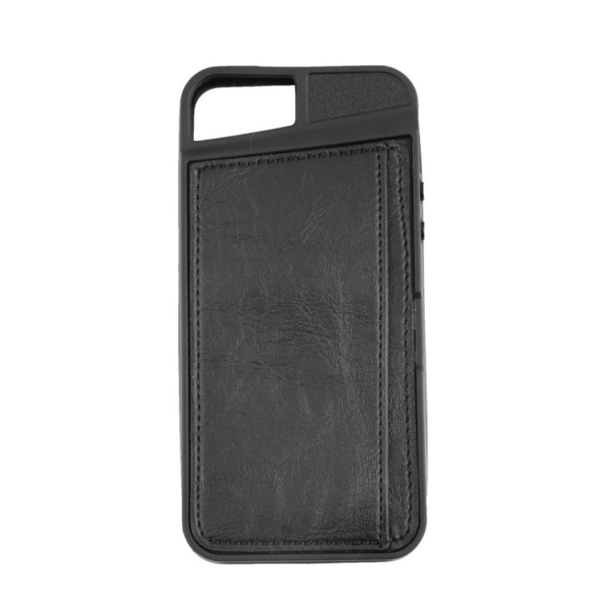Wallet Flip PU Leather Case Cover for iPhone 5/5s (Black)
