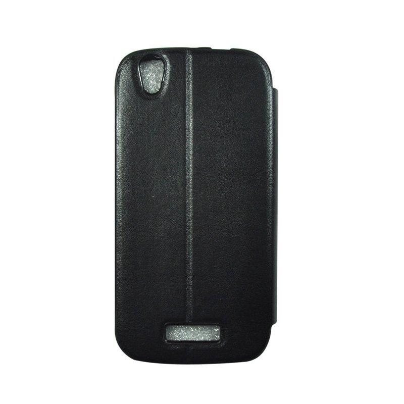 Wallston Leather Case for Smartfren Andromax V Black