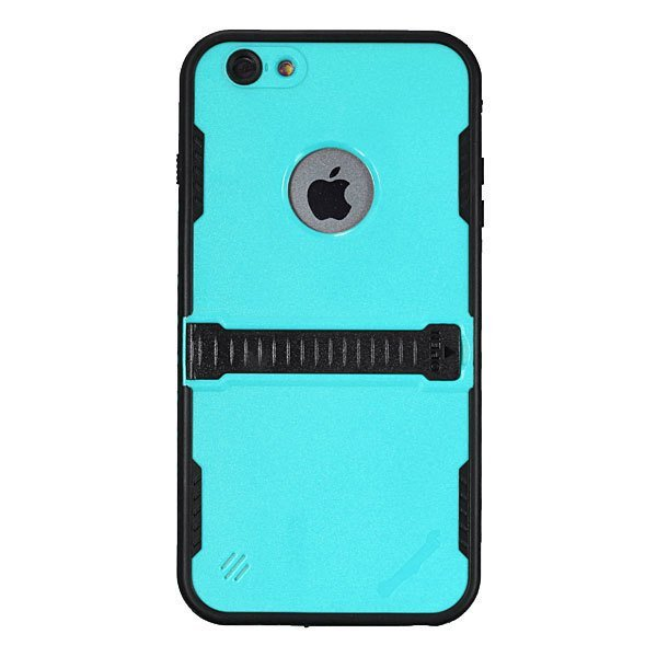 Water/Shock/Dirt Proof Touch ID Fingerprint Case For iPhone 6 Plus 5.5Grass blue